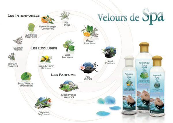Produits d'aromathérapie Camylle pour spas