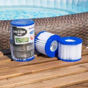 Cartouche de filtration pour spas gonflables Lay-Z-Spa Bestway