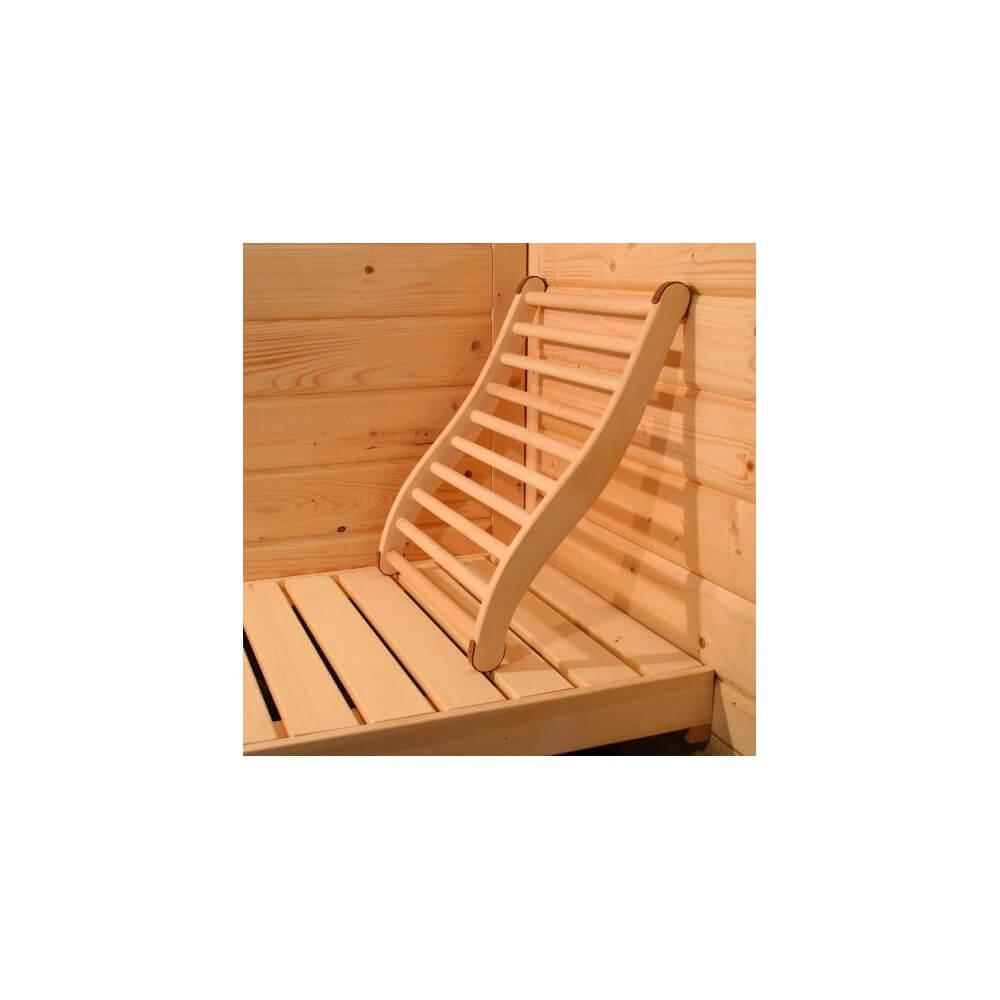 Dossier confort en bois pour sauna