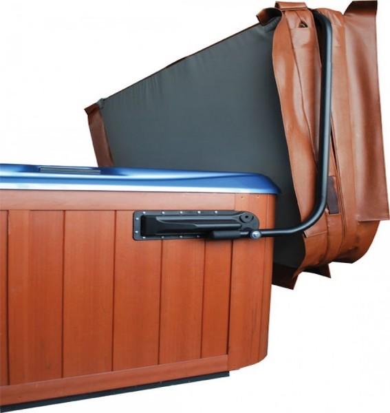 Lève-couverture pour spas de couleur marron
