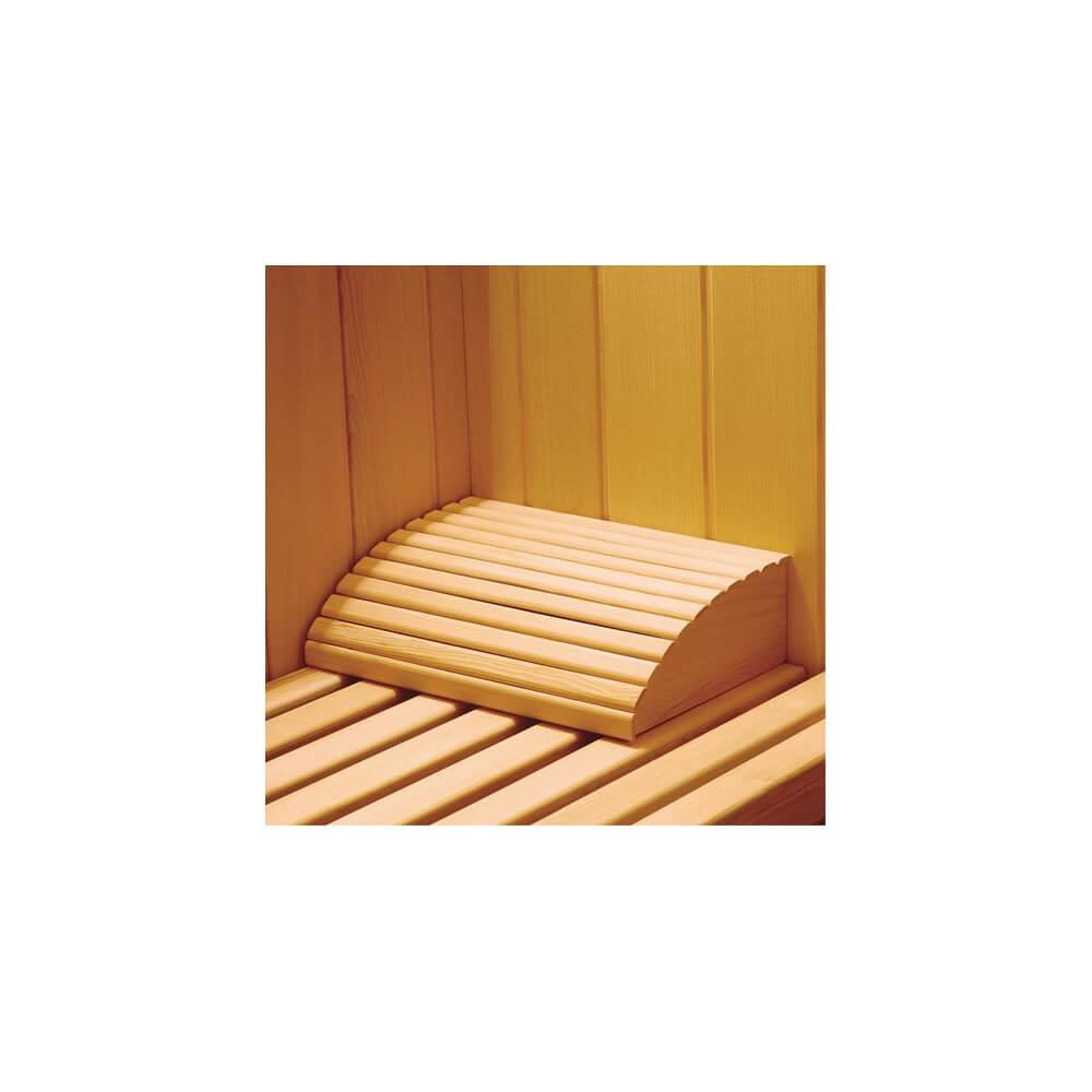 Repose-tête en bois pour sauna