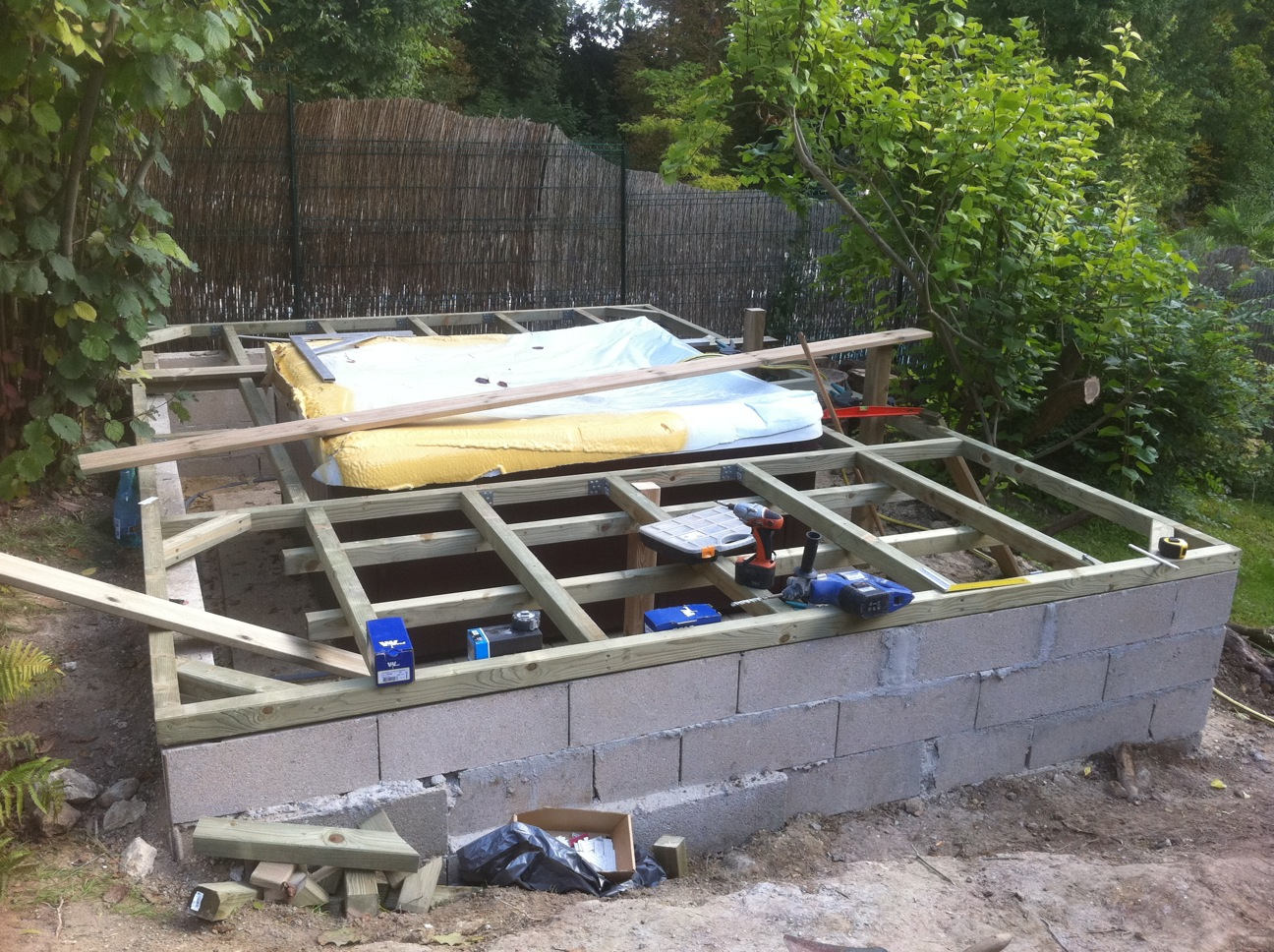 Installation d'un spa