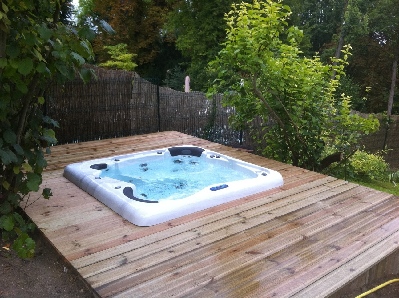 Installation finie d'un spa